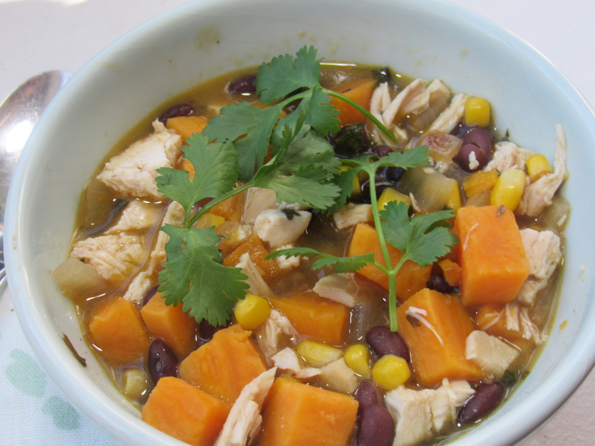 Chicken, Black Bean, Sweet Potato Chili