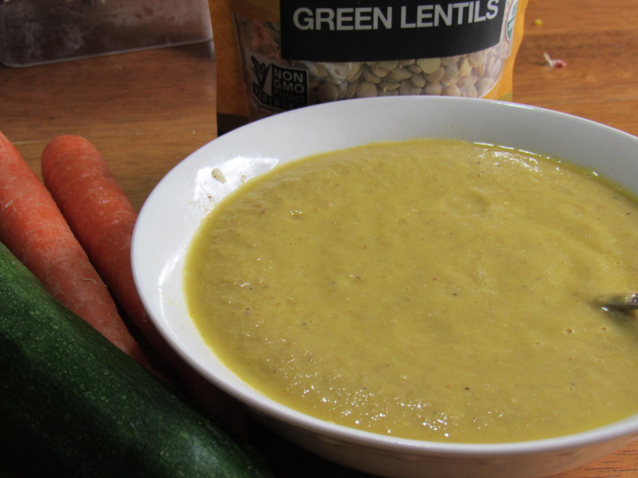 Lentil Carrot Zucchini Soup